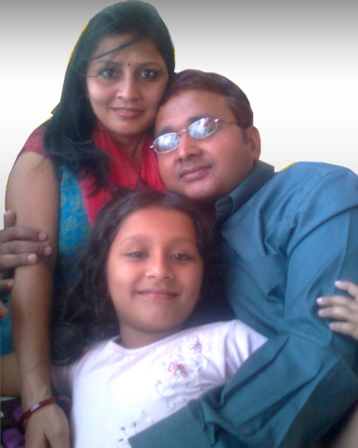 Prajwal with his family