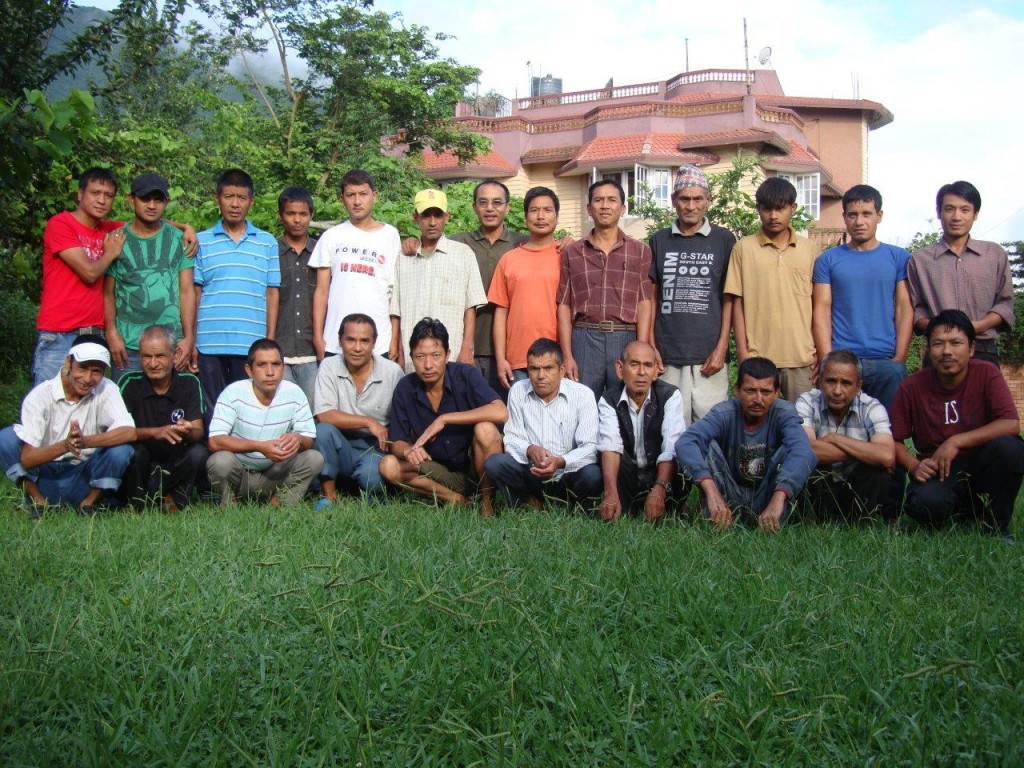 Group picture at the Thankot house